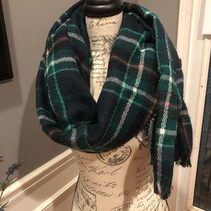 Big scarf green plaid